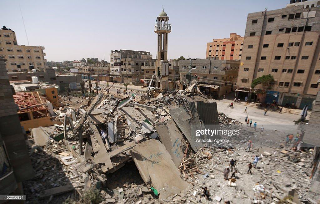 Israeli airstrike hits Nuseirat Refugee Camp in Gaza : News Photo