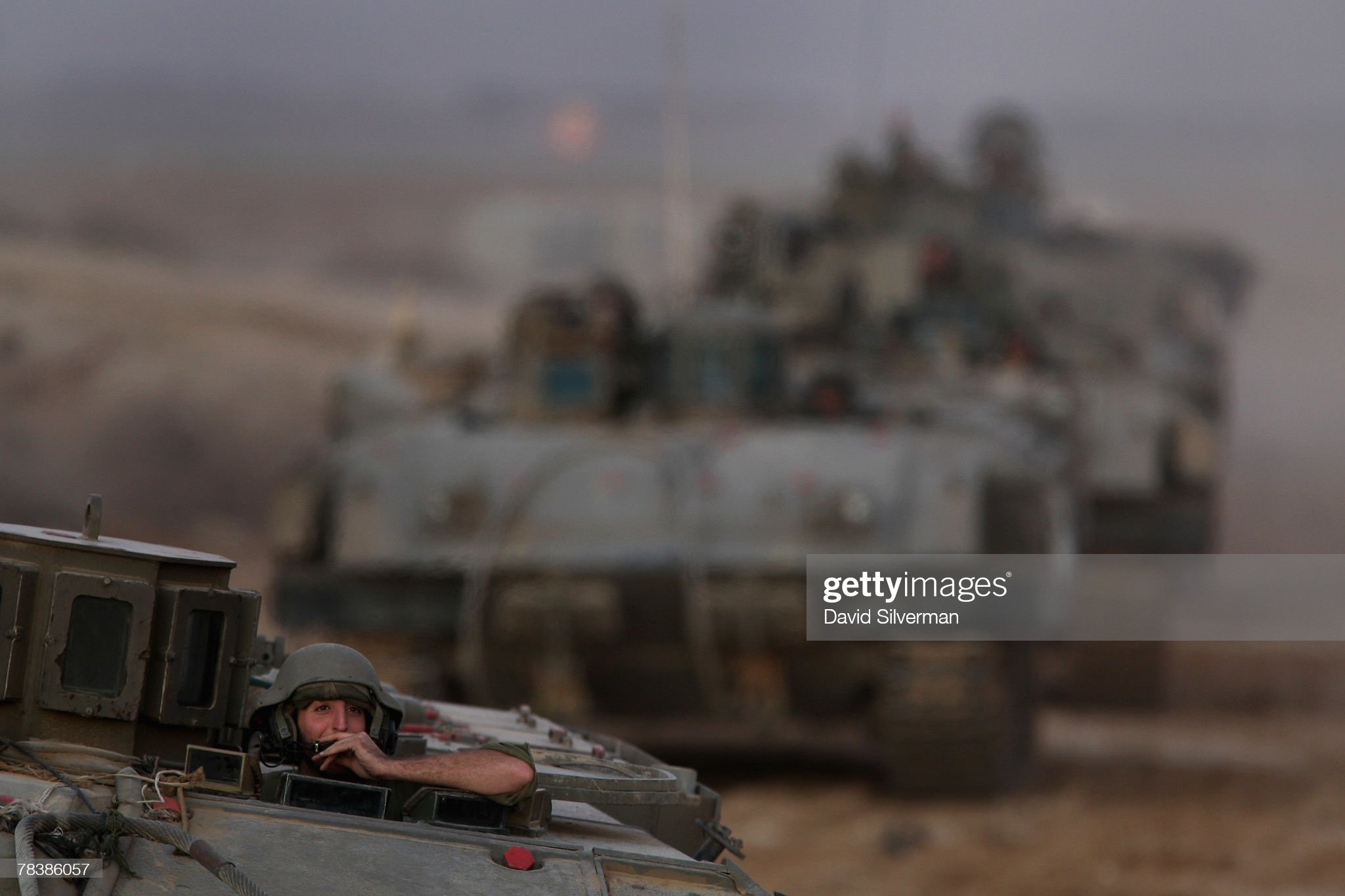 https://media.gettyimages.com/photos/an-israeli-armored-column-crosses-the-border-and-back-to-base-after-picture-id78386057?s=2048x2048