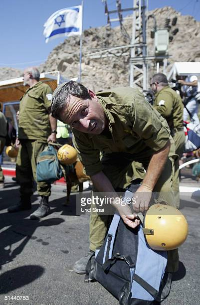 An Israeli army rescue team prepares to cross the border into Egypt from the southern Israeli town of Eilat on October 8 2004 in Eilat Israel Some...