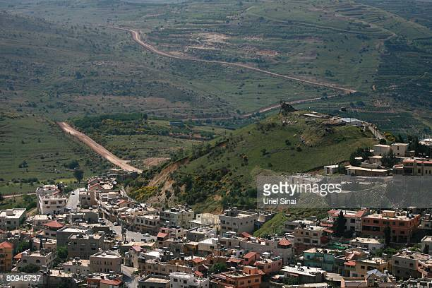 An Israeli army watchtower is seen above the Druze village of Majdal Shams and the Israeli Syrian border on April 29 2008 in the Golan Heights...