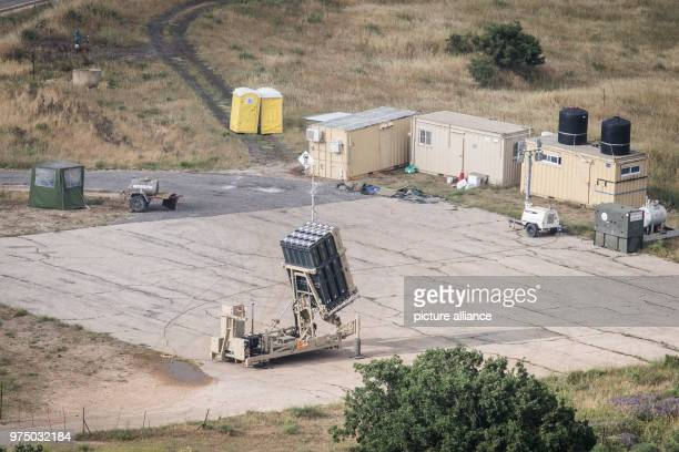 An Israeli Iron Dome rocket defense system is deployed near the border with Syria, in Golan Heights, Israel, 09 May 2018. Israel's army is mobilizing...