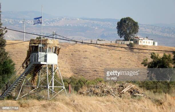 An Israeli military outpost at the Israel-Jordan boder