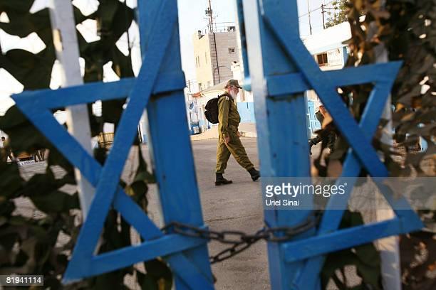 An Israeli military rabbi arrives at an army base at the Rosh Hanikra border crossing between Israel and Lebanon July 15 2008 in Rosh Hanikra...