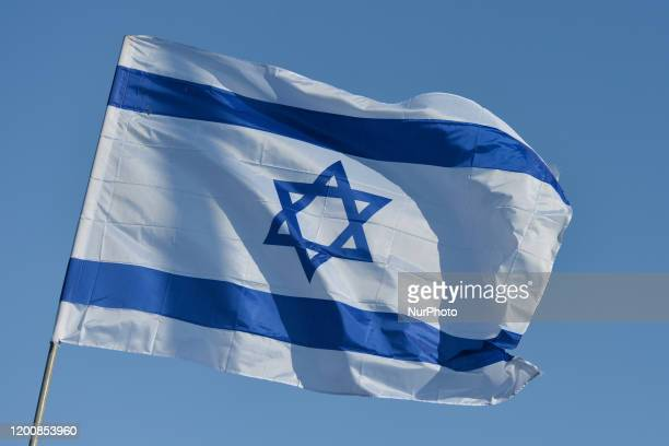 An Israeli national flag seen in Eilat center On Monday February 3 in Eilat Israel