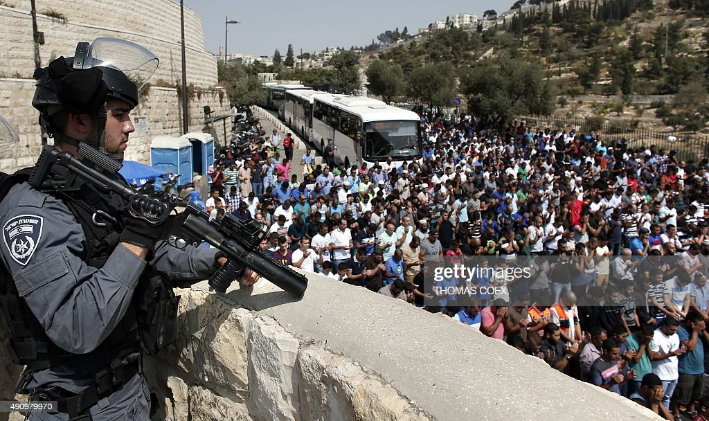 PALESTINIAN-ISRAEL-CONFLICT-JERUSALEM-RELIGION : News Photo