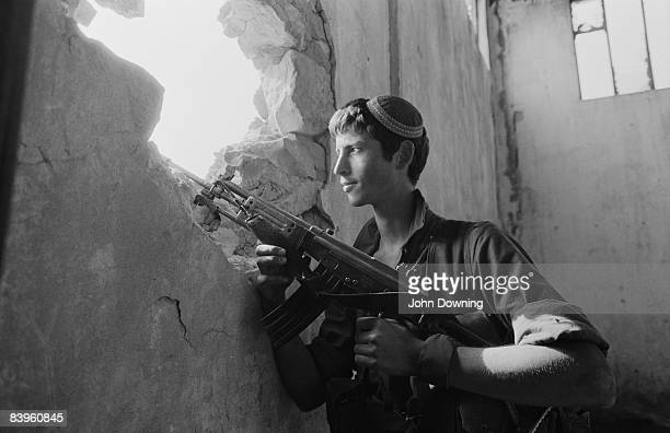 An Israeli sniper on the Green Line between east and west Beirut July 1982