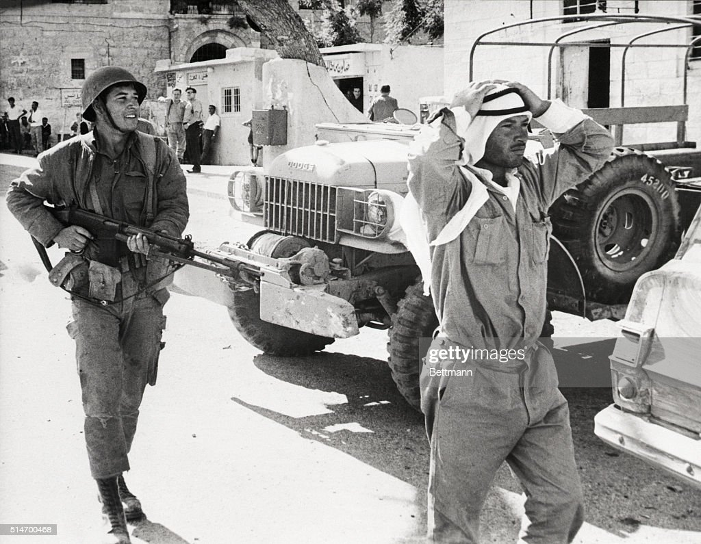 Israeli Soldier With a Jordanian Captive : News Photo