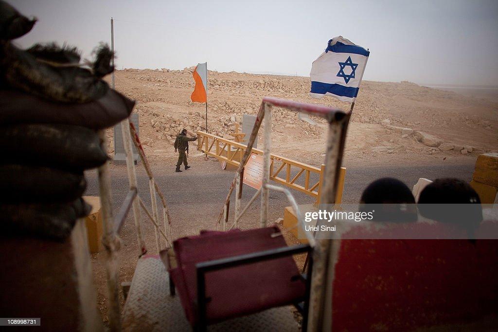 Soldiers Patrol Sensitive Israeli Border With Egypt : News Photo