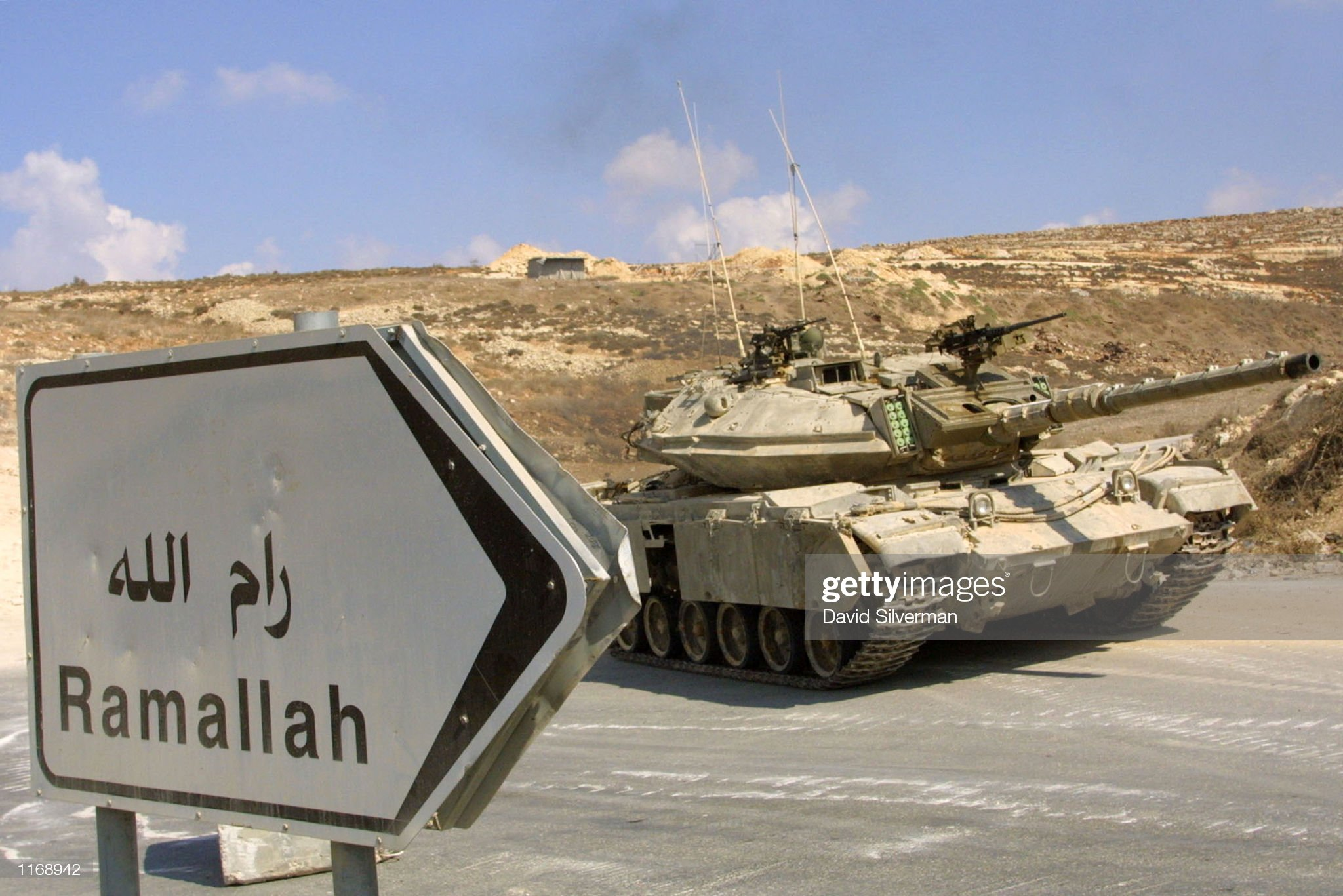 https://media.gettyimages.com/photos/an-israeli-tank-enters-the-west-bank-palestinian-town-of-ramallah-18-picture-id1168942?s=2048x2048