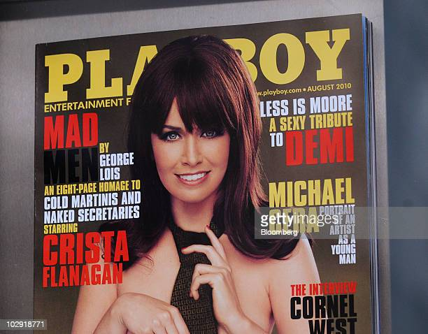 An issue of Playboy magazine is arranged for a photo in New York US on Thursday July 15 2010 FriendFinder Networks Inc the owner of Penthouse...