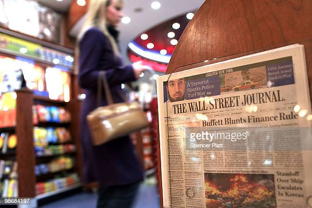 An issue of The Wall Street Journal is viewed on April 26 2010 in New York New York The Wall Street Journal commenced a New York edition today that...