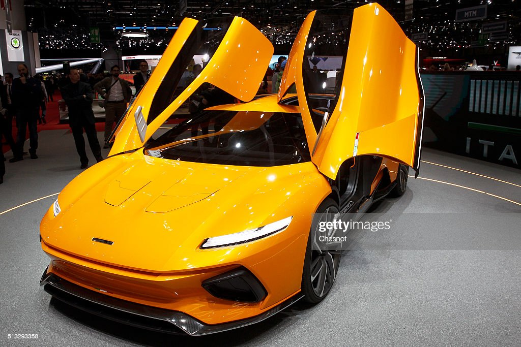 An Italdesign GTZero electric concept car is displayed during the second press day of the 86th Geneva International Motor Show on March 2, 2016 in Geneva, Switzerland. The 86th International Motor Show which runs from March 3 to 13, 2016 will present novelties in the car industry.