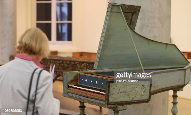 An Italian harpsicord from 1540 in the exhibition Make Music from the Soul The World of Sound and Instrument Building at the Time of CPE Bach in the...