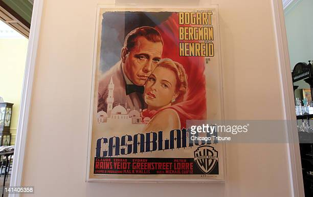 An Italian movie poster for 'Casablanca' is displayed at the home of collector Dwight Cleveland in Chicago Illinois March 6 2012