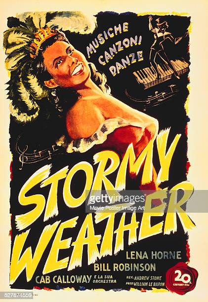 An Italian poster for Andrew L. Stone's 1943 musical 'Stormy Weather' starring Lena Horne.