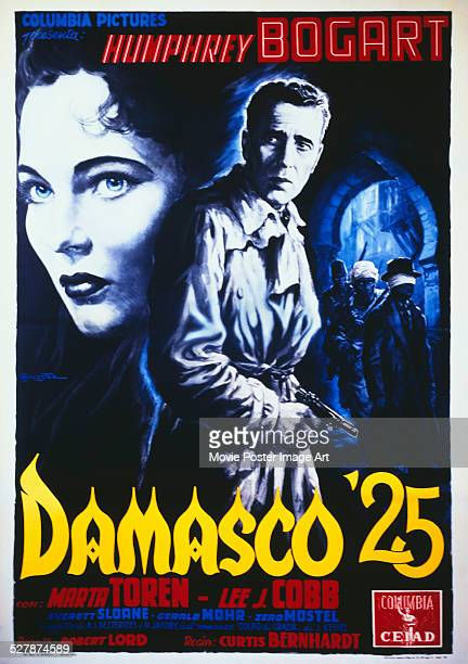 An Italian poster for Curtis Bernhardt's 1951 drama 'Damasco 25' starring Humphrey Bogart and Märta Torén