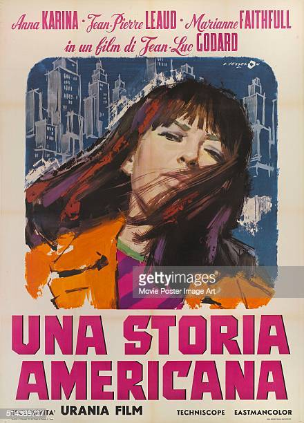 An Italian poster for JeanLuc Godard's 1966 comedy 'Made in USA' starring Anna Karina