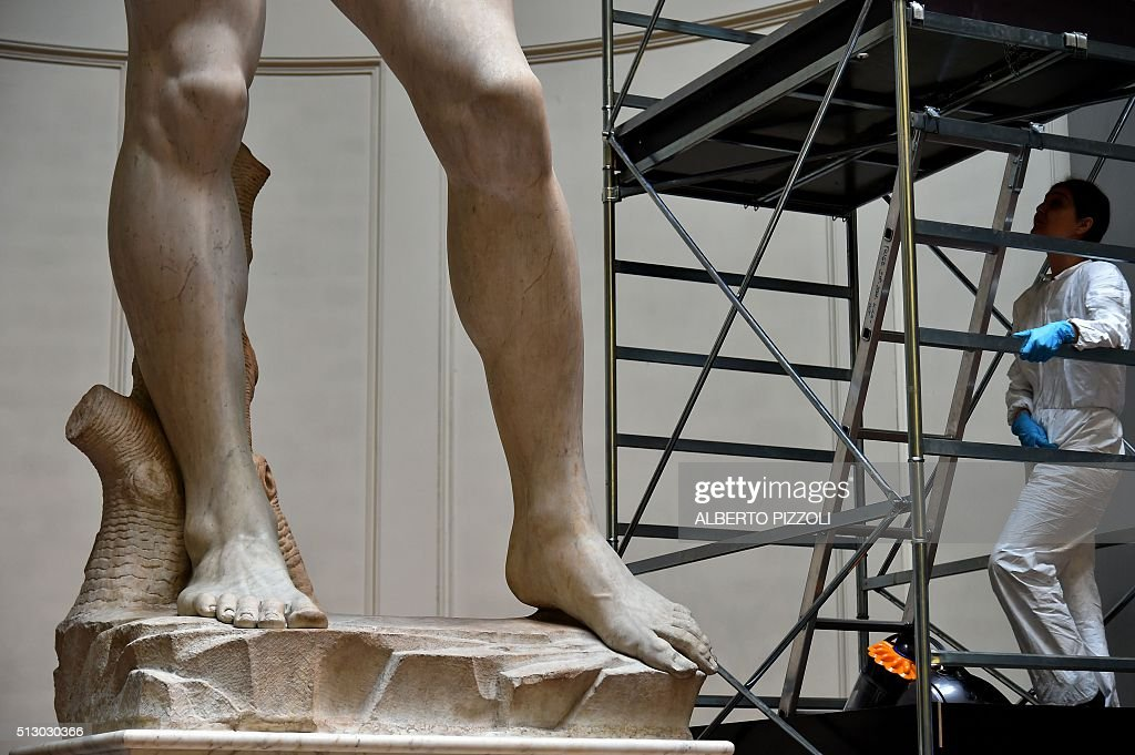 ITALY-CULTURE-MUSEUM-SCULPTURE : News Photo