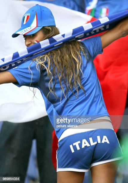 An Italian supporter seen prior the group E preliminary match of 2006 FIFA World Cup between Italy and Ghana in Hanover on Monday 12 June 2006...