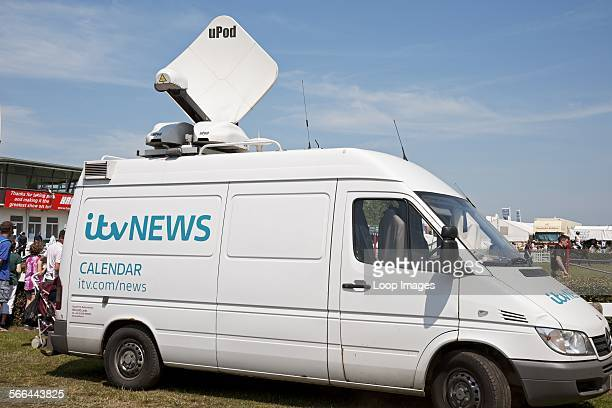 An ITV news van at the Great Yorkshire Show