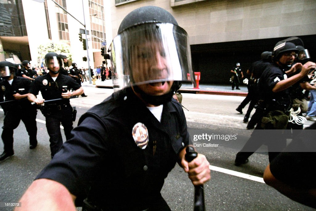 Violent Protests At Democratic National Convention : News Photo
