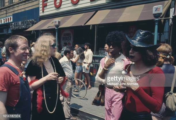 An LGBT parade through New York City on Christopher Street Gay Liberation Day 1971