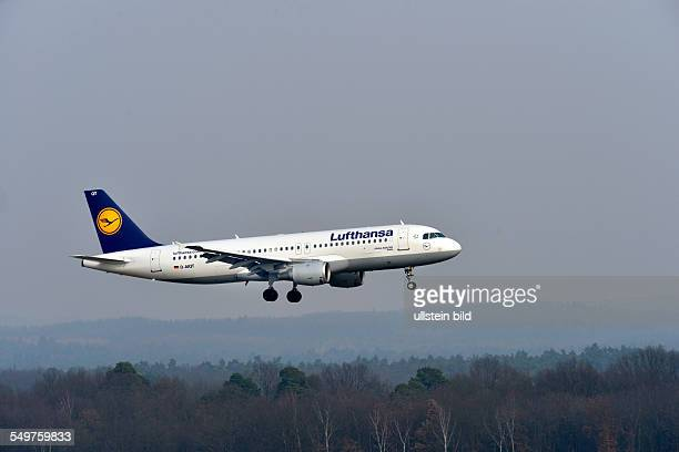 an Lufthansa AIRBUS A320200 / DAIQT / Gotha on landing at the airport of CologneBonn