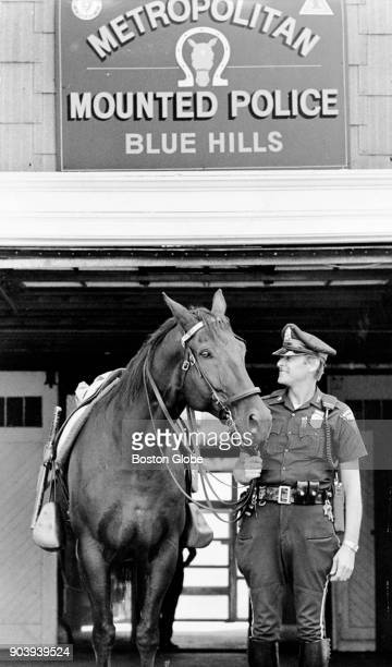 An MDC Mounted police officer and his horse Black Jack Sept 16 1985
