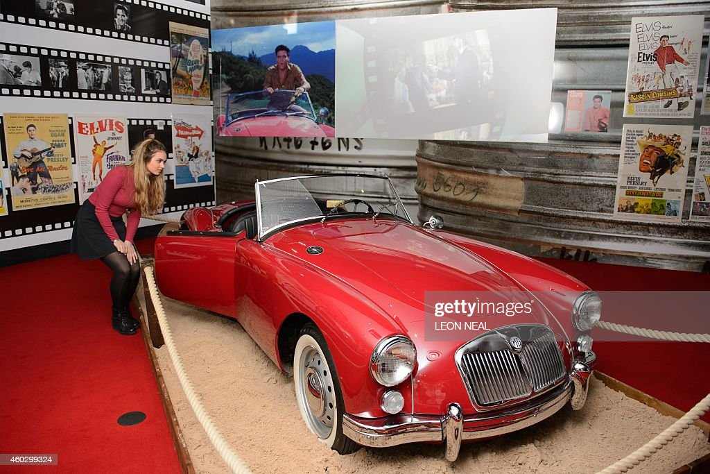 An MG sports car, driven and owned by US singer Elvis ...