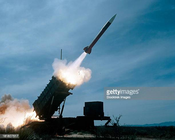An MIM-104 Patriot missile is test fired.