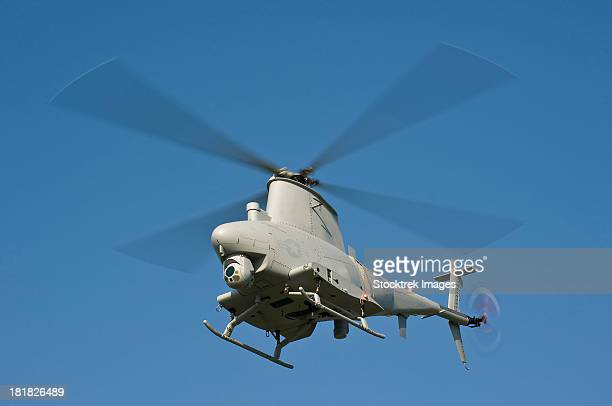An MQ-8B Fire Scout unmanned aerial vehicle in flight.