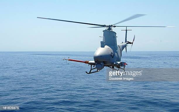 an mq-8b fire scout unmanned aerial vehicle. - military drones stock photos and pictures