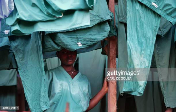 An MSF medical worker at an MSF Ebola treatment facility in Kailahun on August 14 2014 Kailahun along with Kenama district is at the epicentre of the...