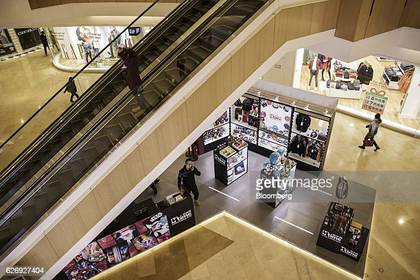 An Mtimecom Inc kiosk stands in a shopping mall in Beijing China on Thursday Nov 24 2016 Mtime the movie portal and trinkets seller that billionaire...