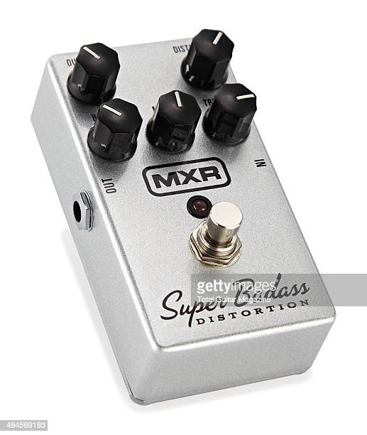 An MXR M75 Super Badass Distortion pedal photographed on a white background taken on July 25 2013