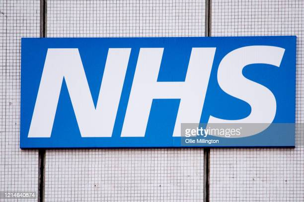 An NHS sign at St Thomas's Hospital, A&E department on March 24, 2020 in London. British Prime Minister, Boris Johnson, announced strict lockdown...