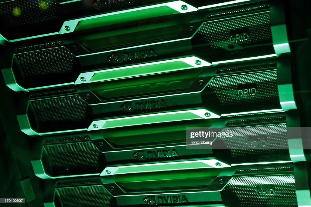 An Nvidia Corp  Nvidia Grid cloud video-gaming server stands at the