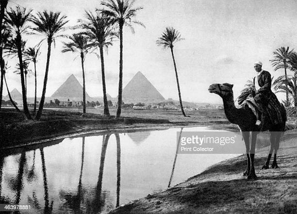 An oasis near Cairo Egypt c1920s Plate taken From In the Land of the Pharaohs published by Lehnert Landrock