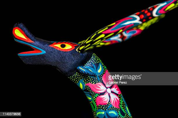 an oaxacan alebrijes - alebrije stock pictures, royalty-free photos & images