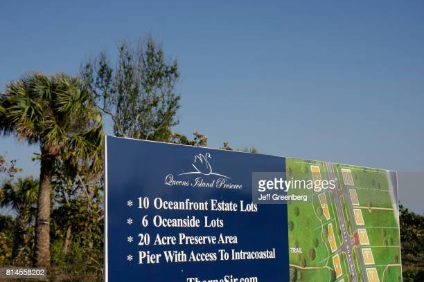 An oceanfront estate lots sign at North Hutchinson Island