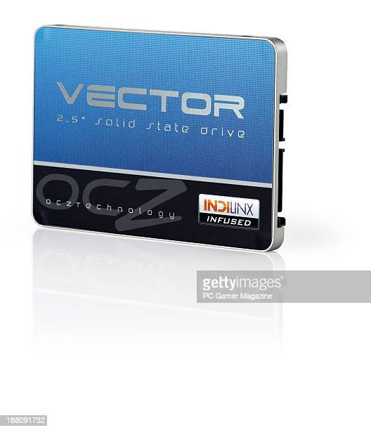 An OCZ Vector 128GB solidstate drive photographed on a white background taken on April 9 2013