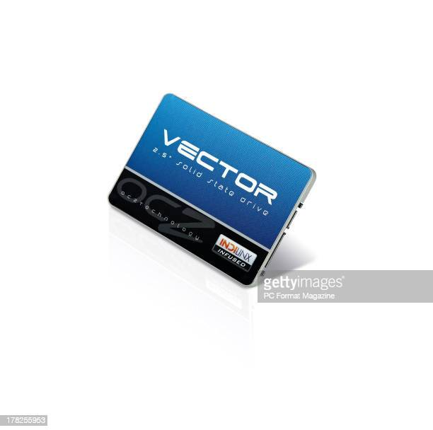 An OCZ Vector 256GB solidstate drive photographed on a white background taken on January 16 2013