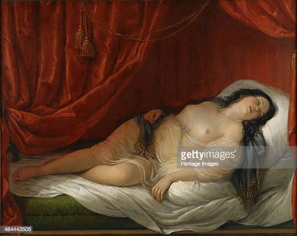 An odalisque in red interior Early 19th cen From a private collection