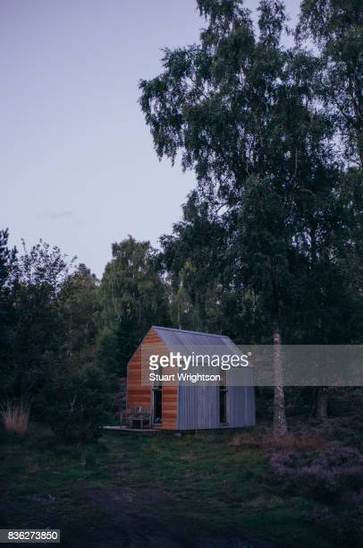An off grid log cabin retreat in the forest, locally known as a Bothy.