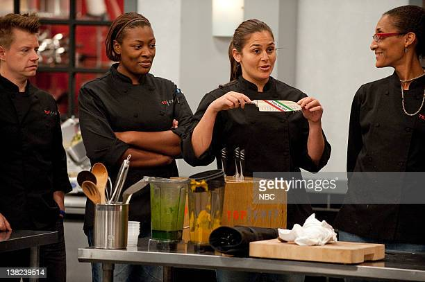 TOP CHEF An Offer They Can't Refuse Episode 808 Pictured Contestants Richard Blais Tiffany Derry Antonia Lofaso Carla Hall