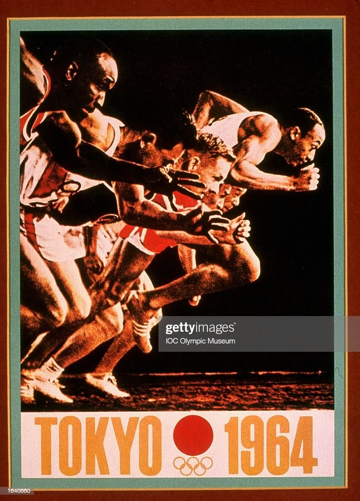 The 1964 Tokyo offical poster on display : ニュース写真