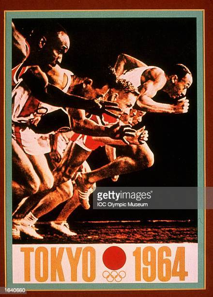 An offical poster from the 1964 Tokyo Olympic Games on display at the IOC Olympic Museum in Lausanne, Switzerland, 1999. \ Mandatory Credit: IOC...