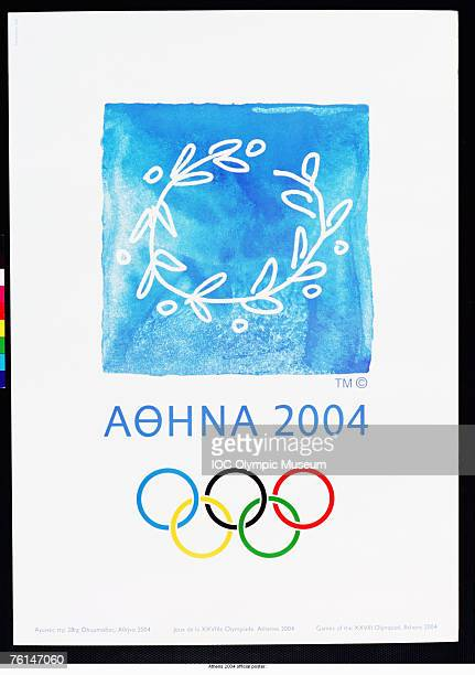 An offical poster from the 2004 Athens Olympic Games on display at the IOC Olympic Museum in Lausanne, Switzerland. \ Mandatory Credit: IOC Olympic Museum /Allsport