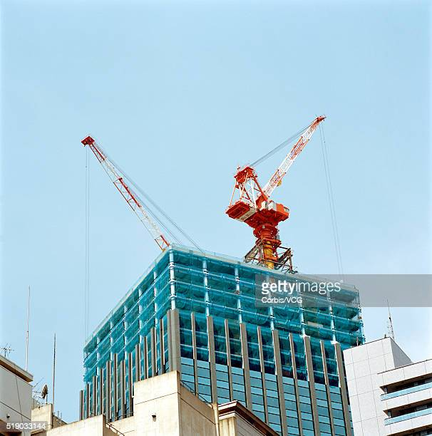 An office block being erected