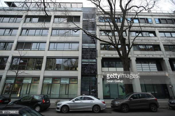 An office building that includes the office of the European Research Group on Environment and Health in the Transport Sector stands in...